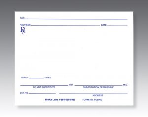 Pharmacy Prescription Pads PD5000 (100 Pads)