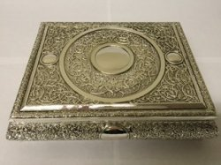Antique Rectangle Silver Box with Lid