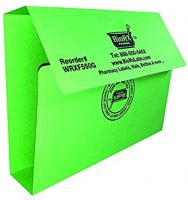 Pharmacy Prescription Folder (Green) with 1-inch Spine, 100 per Pack