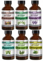 Top Essential Oil Gift Set - Best 6 Aromatherapy Oil - Clove, Frankincense, Lemongrass, Peppermint, Lavender, Eucalyptus 1 oz ea