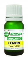 Best Organic Lemon Essential Oil - Top Aromatherapy Oil - Therapeutic Grade and Premium Quality - 10 mL by Sponix