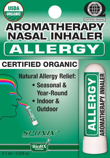 Sponix Aromatheraphy Nasal Inhaler - Allergy - Click Image to Close