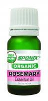 Best Organic Rosemary Essential Oil - Top Aromatherapy Oil - Therapeutic Grade and Premium Quality - 10 mL by Sponix