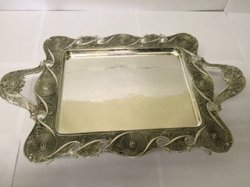 "14"" Rectangle Tray with Handle and Leg"