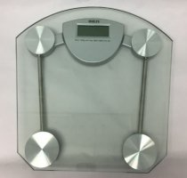 Harlyn BSD2300 Digital Body Weight Bathroom Scale - Tempered Glass - Clear - Step-on Technology - 330 lbs max weight