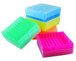 Compact Micro Tube Storage, 81 Well, Assorted Colors, (QTY. Pack of 5)