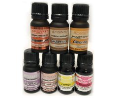 Top Essential Oil Gift Set - Best 7 Aromatherapy Oils - Cinnamon, Frnkncnse, Lavndr, Lemn, Rosehip, Cedrwood, Citronella - 10 ml