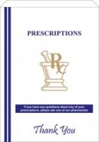 "Pharmacy Prescription Bags White 7"" x 5"" x 14"" (12LBS) 500 per Case [With Print]"