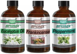 Top Essential Oil Gift Set - Best 3 Aromatherapy Oil - Eucal, Frank and Pepper - Therapeutic Grade and Premium Quality - 1 oz