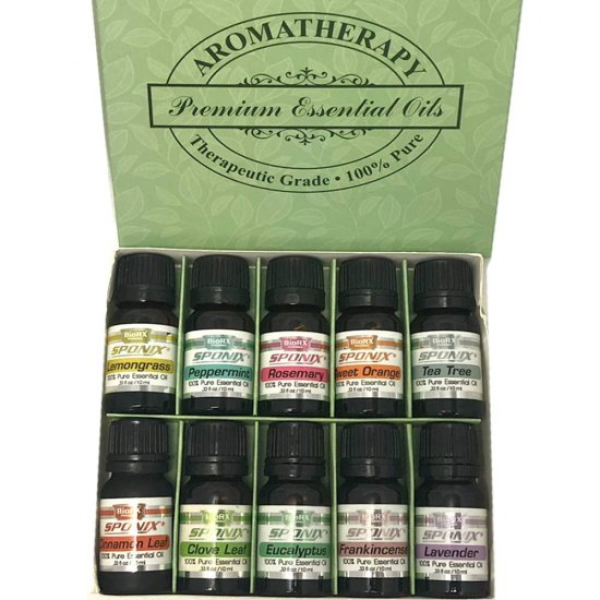 Top Essential Oil Gift Set - Best 10 Aromatherapy Oil - Eucalyptus, Peppermint, Lemongrass, Rosemary, Lavender, Frankincense, Or - Click Image to Close