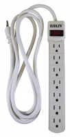 Harlyn Power Strip Surge Protector - 7 Outlets - 8 ft cord - 15A - 125V - 1875W - 300 Joules