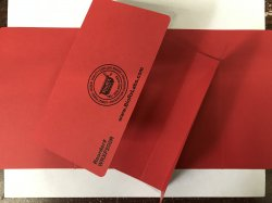Pharmacy Prescription Folder (Red) with 1-inch Spine, 100 per Pack