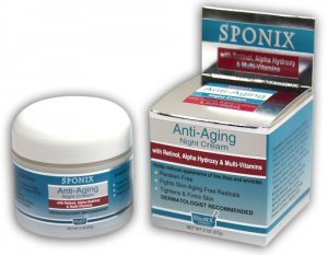 Sponix- Anti-Aging Night Cream (2 OZ)