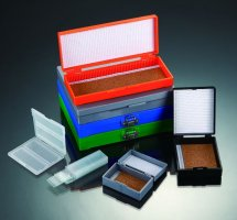 Storage Boxes for Slides, with Nickel Plated Clasp and Hinge Pin, Color: Black (QTY. 1)