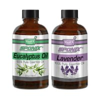 Top Essential Oil Gift Set - Best 2 Aromatherapy Oil - Eucalyptus and Lavender - Therapeutic Grade and Premium Quality - 4 oz Ea