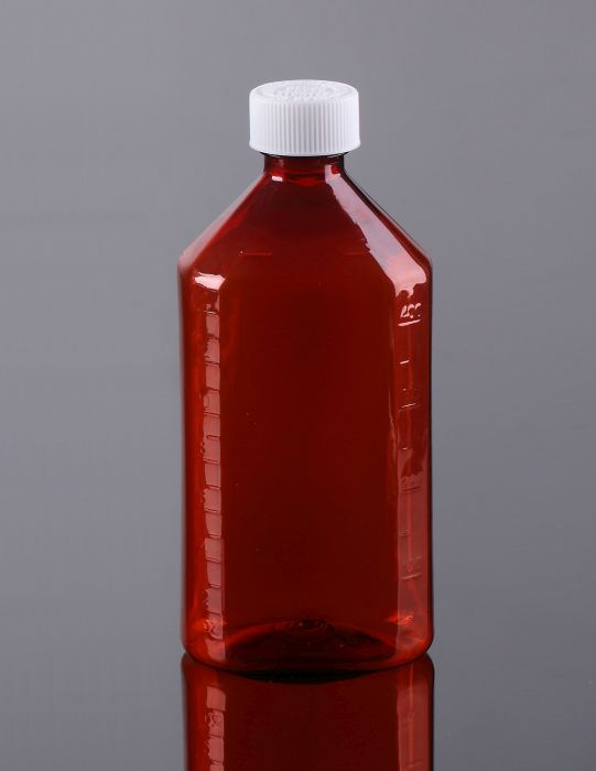 bef246d79055 Oval Bottle AMBER 16 oz with CR Caps Included [QTY. 25] [OB1600 ...
