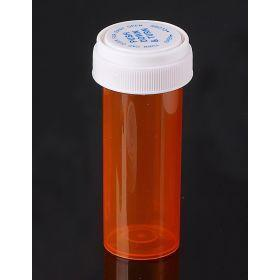 Reversible Cap AMBER 16 Dram BioRx Vials Caps Included [QTY. 240]