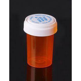 Reversible Cap AMBER 20 Dram BioRx Vials Caps Included [QTY. 270]