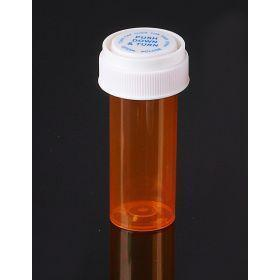 Reversible Cap AMBER 08 Dram BioRx Vials Caps Included [QTY. 410]