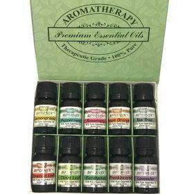 Top Essential Oil Gift Set - Best 10 Aromatherapy Oil - Eucalyptus, Peppermint, Lemongrass, Rosemary, Lavender, Frankincense, Or