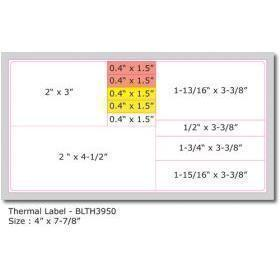 "Thermal Label, Size 7 7/8"" x 4"""