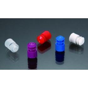 Flange Plug Cap, Polyethylene, 13mm, 1000 per Zip Lock Bag, Color: Purple