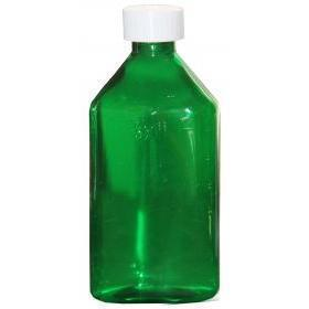 Oval Bottle GREEN 12 oz with CR Caps Included [QTY. 50]